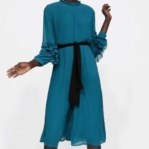 Zara Basic Pleated Jumpsuit
